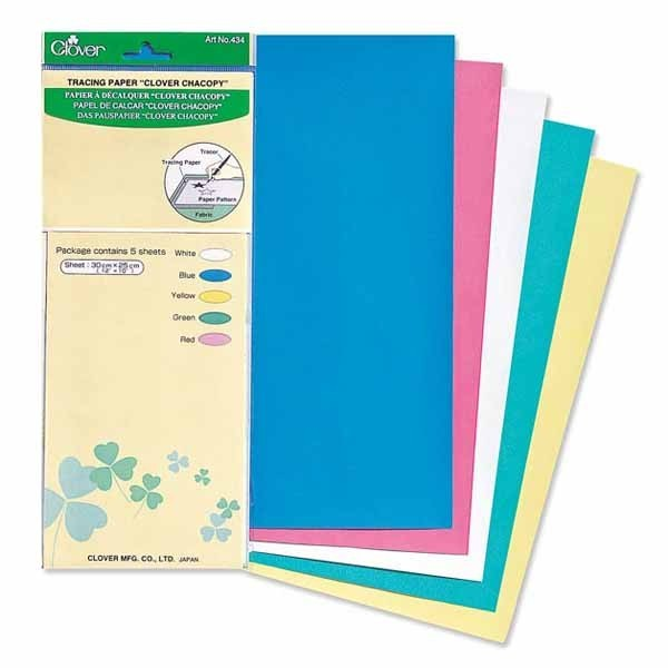 Papier carbone Clover 30x25cm (5 feuilles)