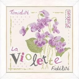 Fiche de broderie Lilipoints : Violette