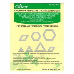 Gabarits patchwork : Triangles / Hexagone