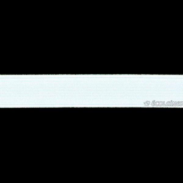 Élastique côtelé Blanc 15 mm