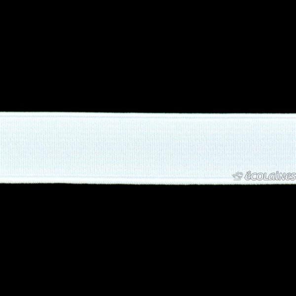 Élastique côtelé Blanc 20 mm