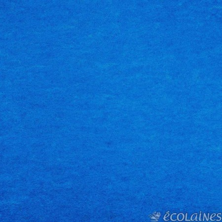 Feutre de laine turquoise