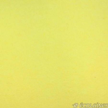 Feutre de laine jaune