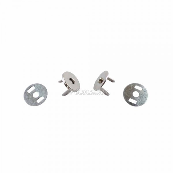 Bouton magnétique invisible 14 mm argent