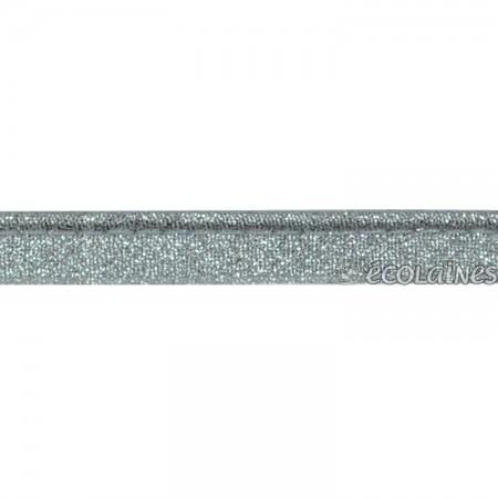 Passepoil lurex argenté 10 mm