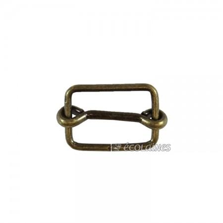 Boucle à coulisse 22 mm bronze