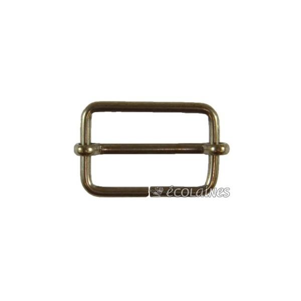 Boucle à coulisse 25 mm bronze
