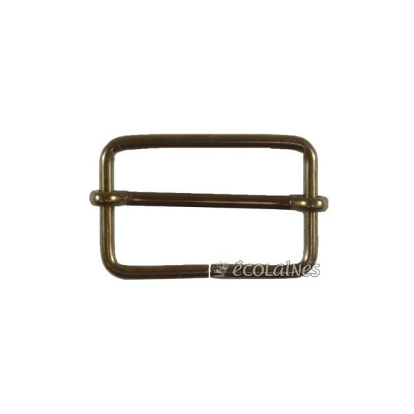 Boucle à coulisse 30 mm bronze