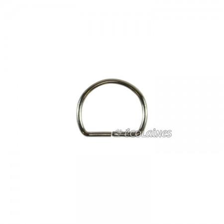 Boucle demi ronde 14 mm argent