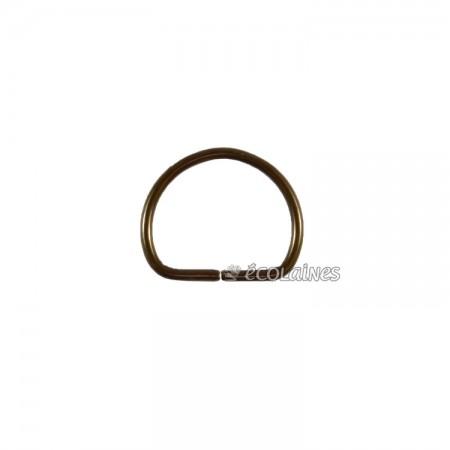 Boucle demi ronde 15 mm bronze