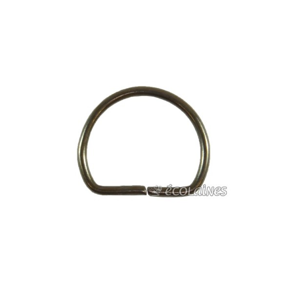 Boucle demi ronde 25 mm bronze