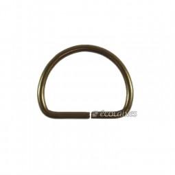 Boucle demi ronde 30 mm bronze