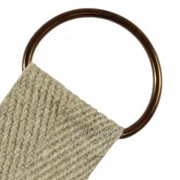 Boucle demi ronde 40 mm bronze