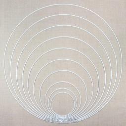 Cercle métal nu attrape-rêves et abat-jour