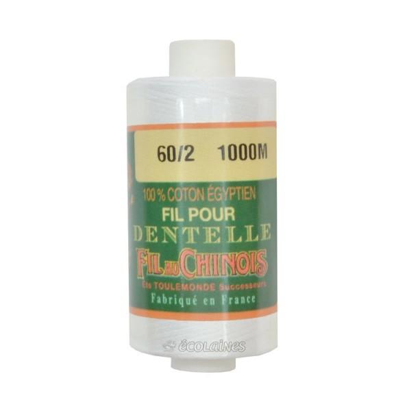 Fil dentelle 60/2 coton égyptien Blanc