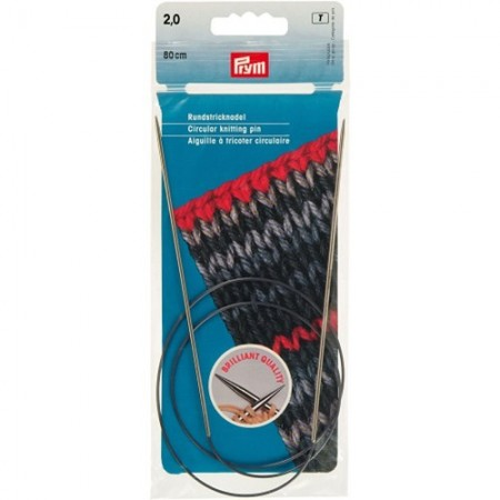Aiguilles à tricoter circulaires laiton Prym n°2