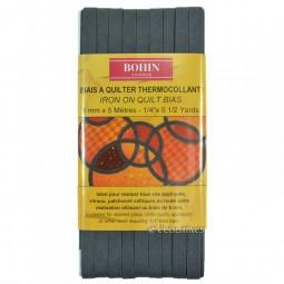 Biais thermocollant 6 mm Gris moyen 5 m