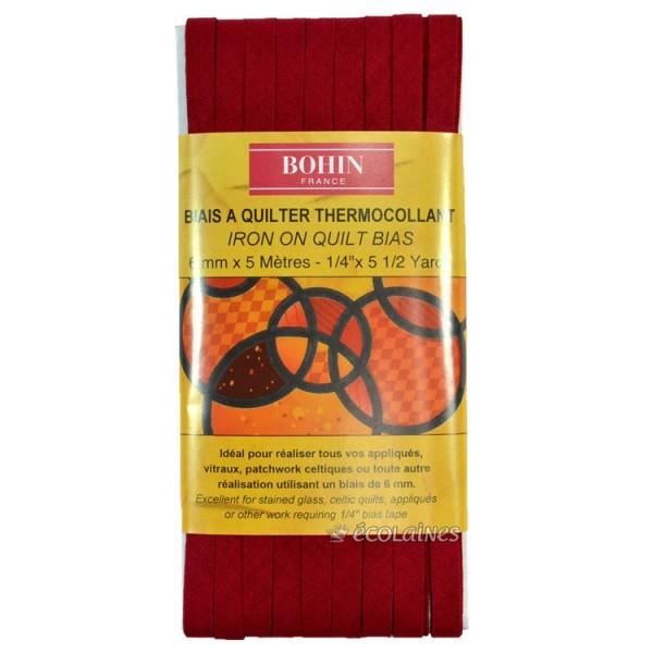 Biais thermocollant 6 mm Bordeaux 5 m