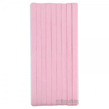 Biais thermocollant 6 mm Rose tendre 5 m