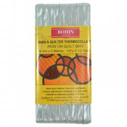 Biais thermocollant 6 mm Argent 5 m