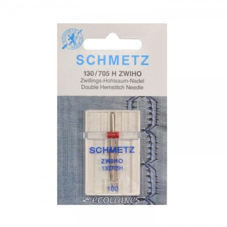 Aiguille machine à coudre Schmetz Double jour 100