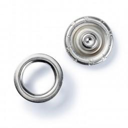 Boutons pression Jersey anneaux 10 mm Argent sans outil