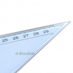 Équerre à dessin 32 cm, angle de 60°