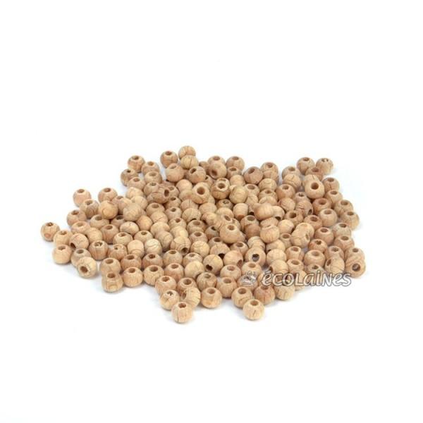 Perles de bois 4 mm