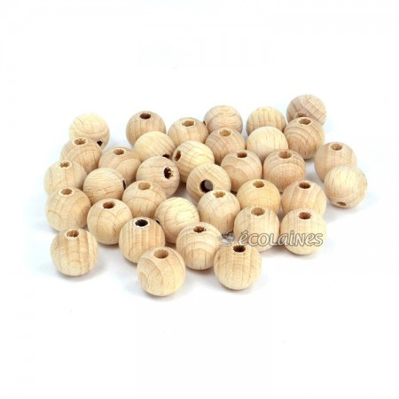 Perles de bois 10 mm
