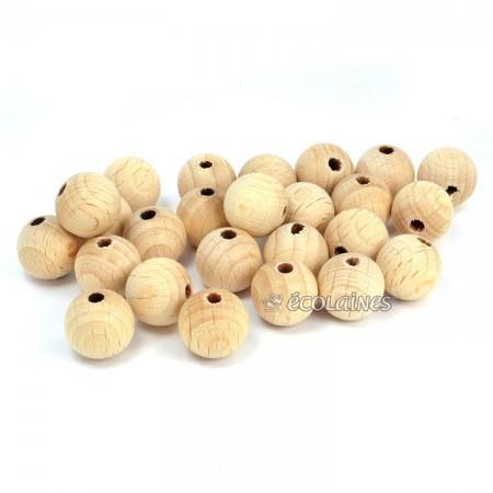 Perles bois 12 mm