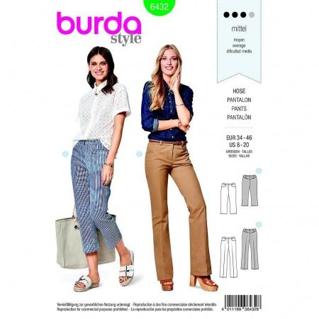 Patron Burda 6432 - Pantalon