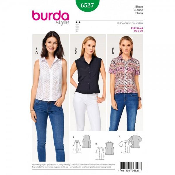 Patron Burda 6527 - Blouse col droit