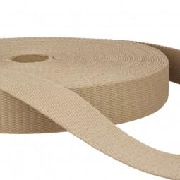 Sangle coton 30 mm - Ficelle