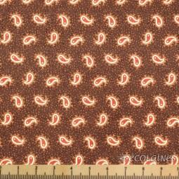 Tissu Moda - Petite paisley dark brown