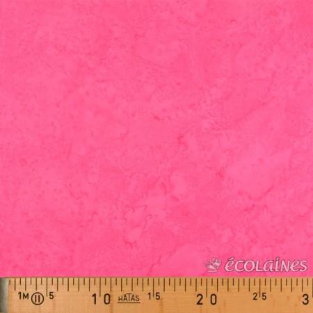 Tissu batik - Nuance rose bonbon