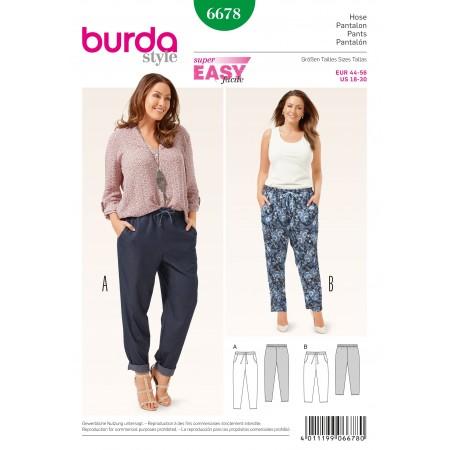 Patron Burda 6678 - Pantalon décontracté