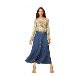 Patron Burda 6685 - Robe et blouse avec col à pinces décoratives