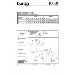 Patron Burda 6349 - Chemise homme