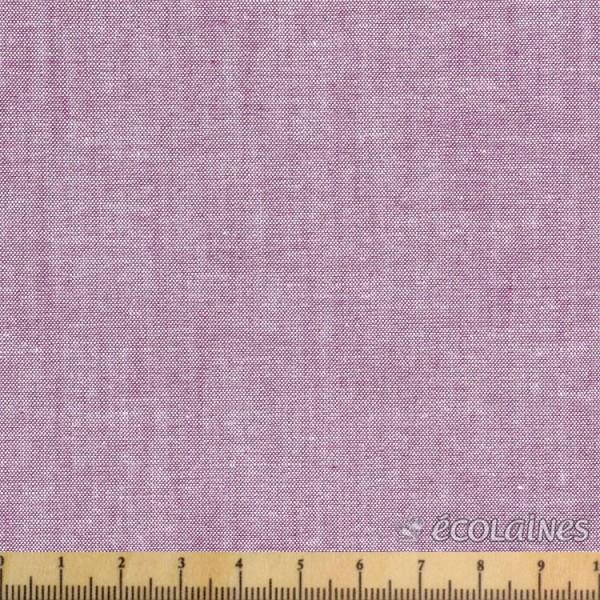 Tissu coton - Chambray violet