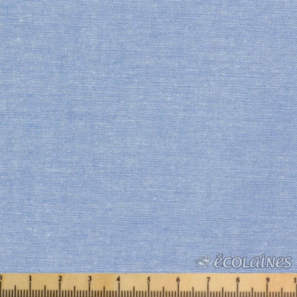 Tissu coton - Chambray bleu denim