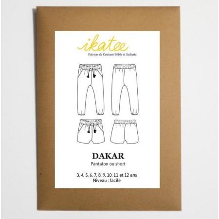 Patron Ikatee - Pantalon short Dakar 3 ans - 12 ans