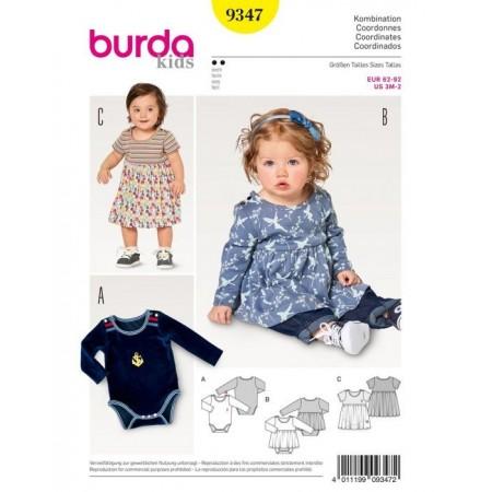 Patron Burda 9347 - Robe avec body