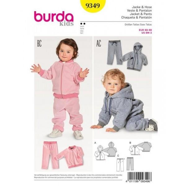 Patron Burda 9349 - Survêtement enfant