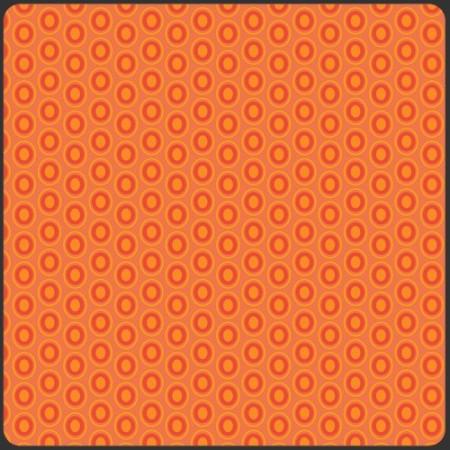 Art Gallery Fabrics - Oval elements - Tangerine tango