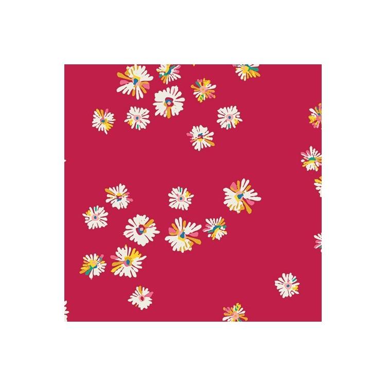 Art Gallery Fabrics - Sun kissed - Hazy daisies scarlet