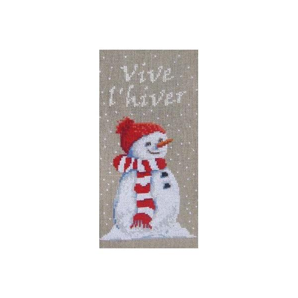 Fiche de broderie Martine Rigeade : Vive l'hiver