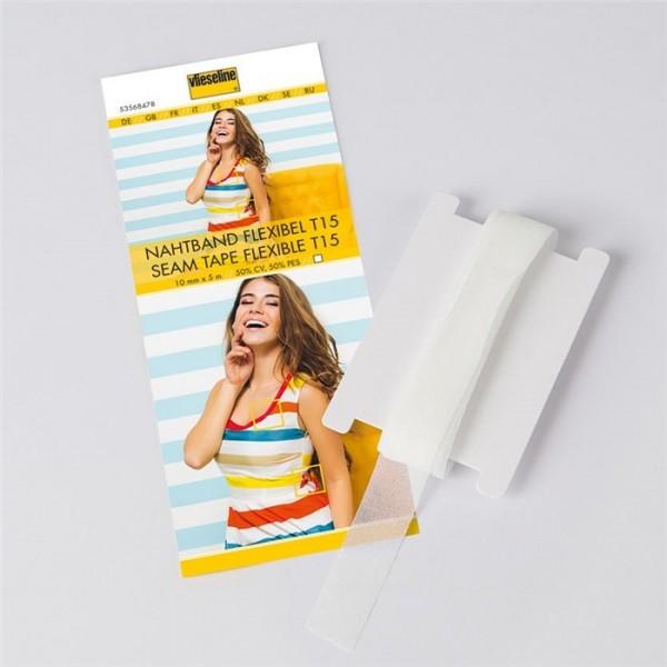 Support droit fil extensible 15 mm blanc Vlieseline