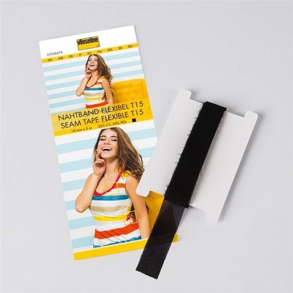 Support droit fil extensible 15 mm noir Vlieseline