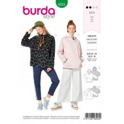 Patron Burda 6253 - Sweat-shirt