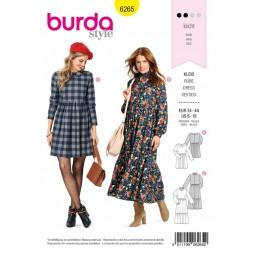 Patron Burda 6265 - Robe col claudine